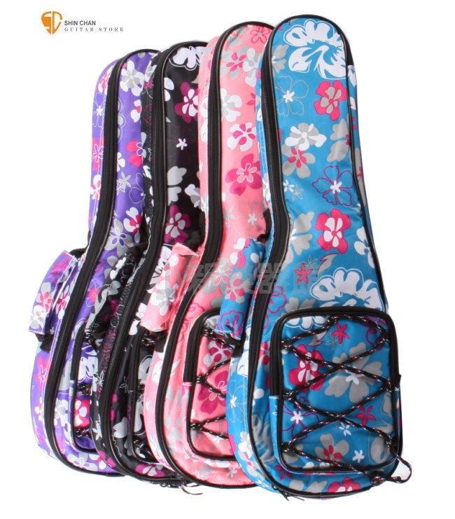 獨家限定款-夏威夷Hula扶桑花26吋烏克麗麗厚袋(小花袋)/ 厚度達10mm/保護愛琴必購