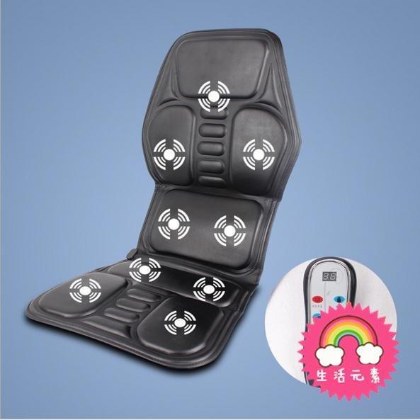 車載按摩器電動多功能全身車用靠墊加熱肩膀腰部肩部汽車按摩坐墊