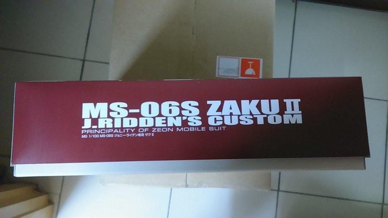 台魂商店限定 MG 1/100  MG MS-06S 薩克II  2.0 紅色閃電 強尼萊登專用機