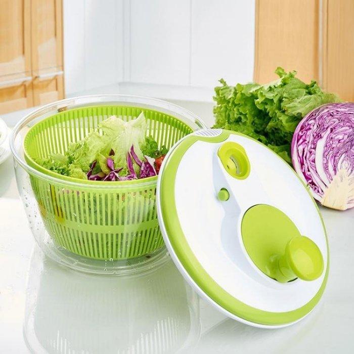 家用蔬菜甩干機脫水器大容量廚房洗菜水果瀝水籃甩菜器沙拉甩干機