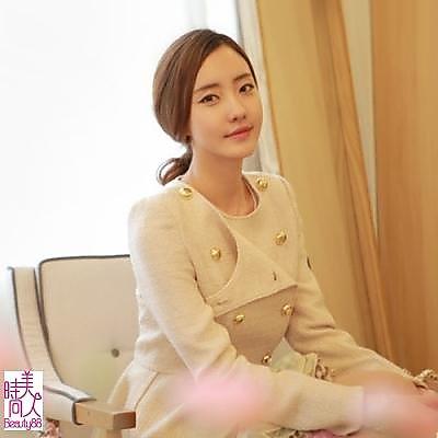 ★韓國進口~【現貨】柔美雙排扣西裝外套[40662]_米色