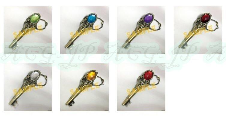 日版*7寮 鑰匙造型掛飾 鑰匙圈* 7款單售《迪士尼 扭曲仙境》21/5月0310