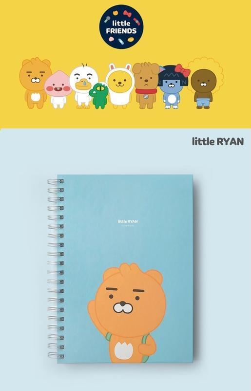 現貨 韓國空運 韓國文具 kakao friends Ryan 萊恩 讀書 學習 分類隔頁 橫線條 筆記本 記事本