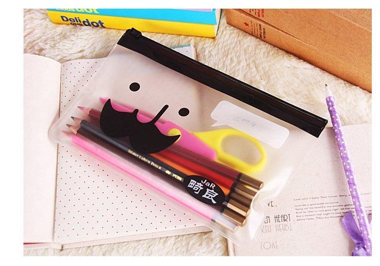 嵐雲坊 【贈品】 韓國 辦公室 收納 鬍子 鉛筆袋 買包包贈送這款