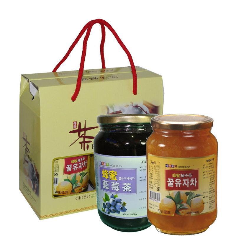 高麗購◎正友蜂蜜柚子茶蜂蜜藍莓禮盒◎6盒/免運費/過年送禮,謝師送禮最佳/新年特惠價