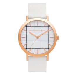 【Christian Paul】澳洲時尚手錶現貨,格紋玫瑰金白色錶帶43mm,不輸DW、Cluse、COACH,男錶女錶