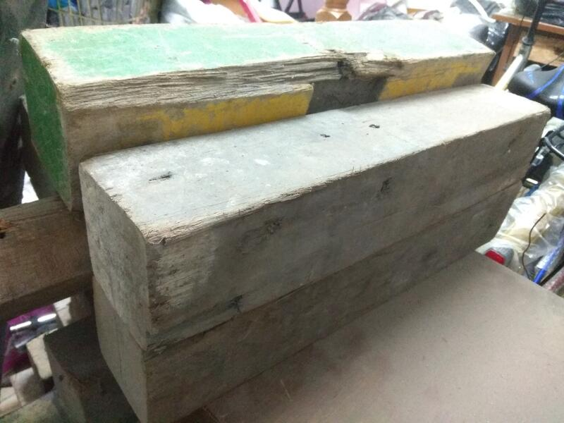 二手粗 木條 長45cm,寬8.2cm,高8.8cm一支600元