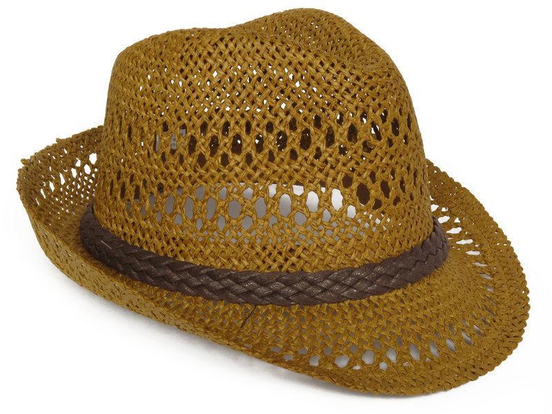 帽子專賣店【夏季優質造型隨你變☆K071-5☆編織造型紳士帽牛仔帽】