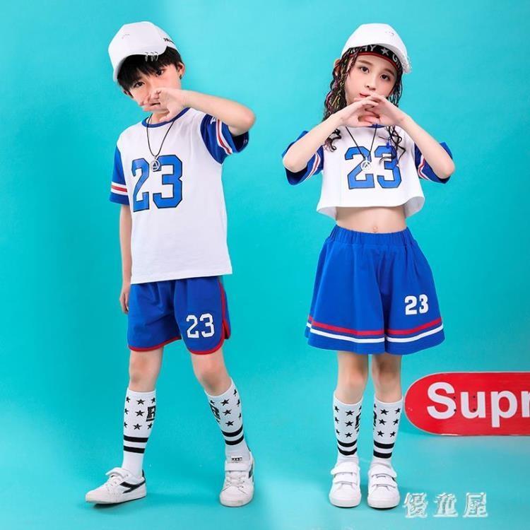 舞蹈表演服兒童 啦啦隊服裝演出服男女童全棉籃球寶貝足球寶貝 qf24053❤❤--一級棒
