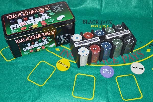 【小工人】200pcs籌碼套裝*BLACKJACK 21点百家樂遊戲套裝組還有莊家牌唷