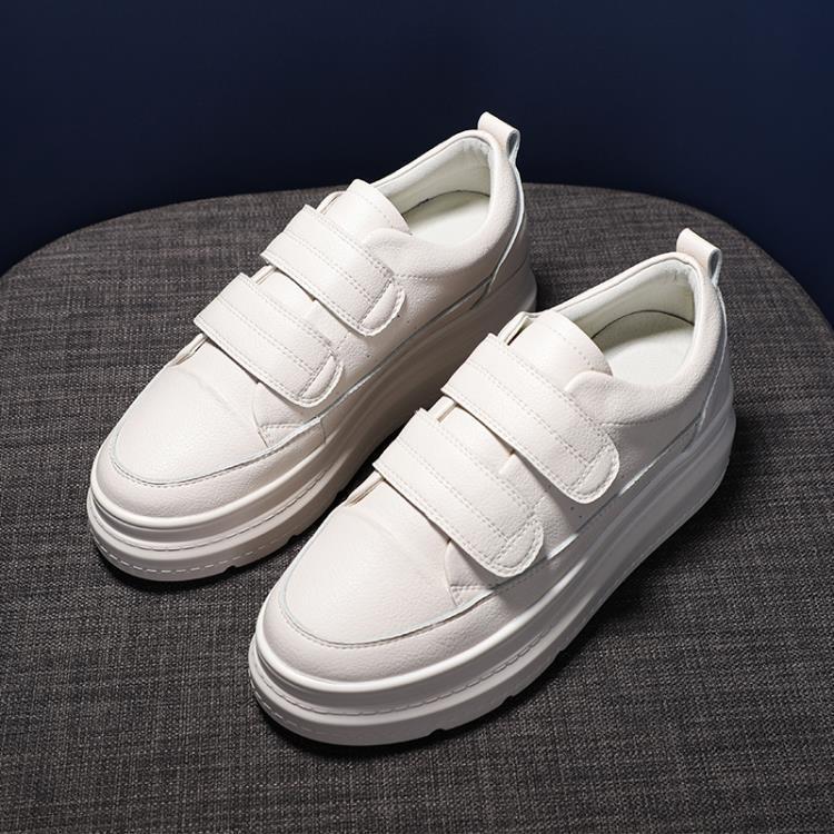 999小舖女內增高鞋 魔術貼厚底小白鞋休閒鞋 一級棒-可開立發票