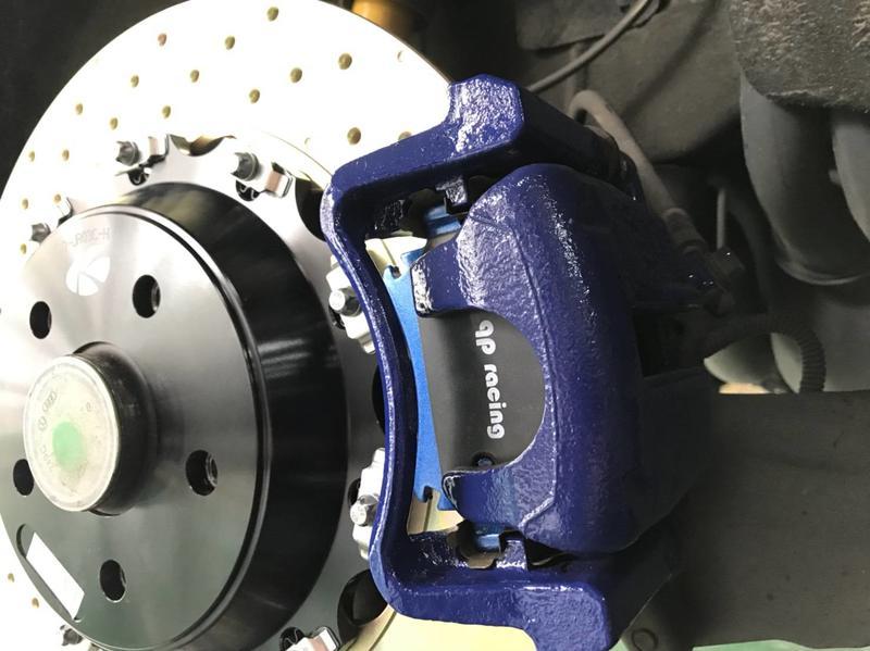總代理  AP7040  AP9040 D61  58MM qp racing 藍色山道競技版來令片一組6000元