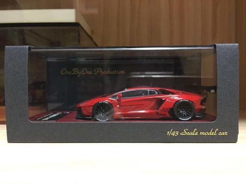 1/43 Hi-Story LB Works Lamborghini Aventador Red