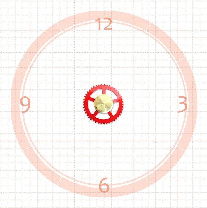 【鐘點站】DIY 時鐘 掛鐘 / SKP機芯 專用紅色齒輪秒針 / 直徑 1.5 公分