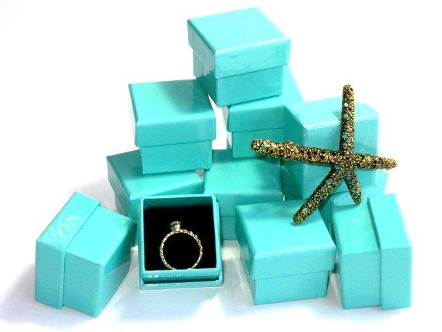 ☆蘿亞飾品盒☆海洋之星戒指盒/紙盒/包裝盒/紙盒/首飾盒/Tiffany 蒂芬尼綠風 ♡浪漫戒指盒♥