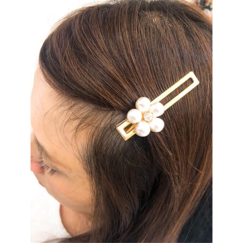現貨* 韓國製 珍珠 花花 花朵 髪飾 髮夾