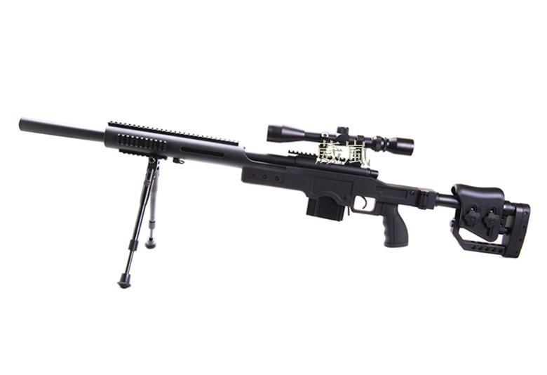 WELL 4410 狙擊槍 手拉 空氣槍 (BB槍BB彈玩具槍長槍模型槍步槍卡賓槍馬槍瞄準鏡狙擊鏡腳架