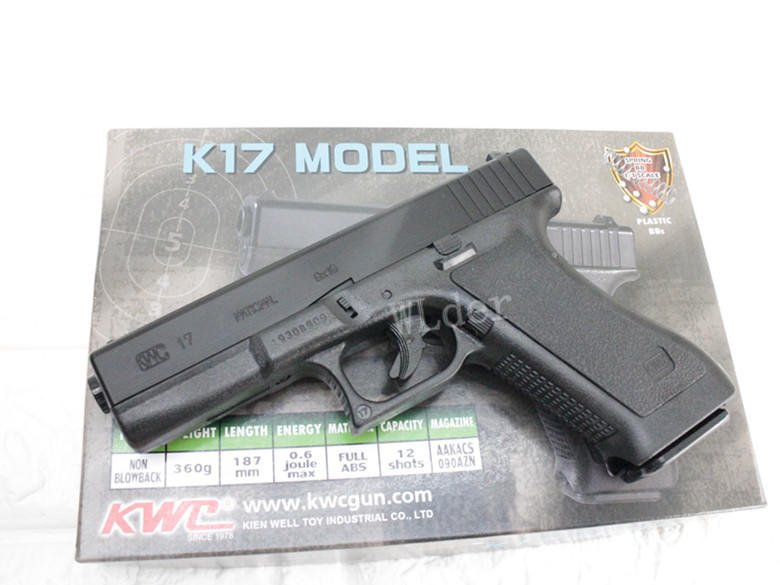 KWC G17 手槍 空氣槍(GLOCK克拉克BB槍BB彈玩具槍短槍模型槍競技槍IPSC生存遊戲G18G19G22