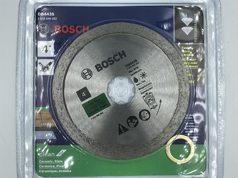 """""""電筒魔"""" 德國 BOSCH 原廠 DB443S 4英吋 105mm 鑽石圓鋸片 磁磚、玻璃用"""