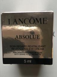 LANCOME蘭蔻(ABSOLUE)絕對完美黃金玫瑰眼霜5ml*1+玫瑰潔面霜15ml*2+玫瑰修護精華5ml*2-免運