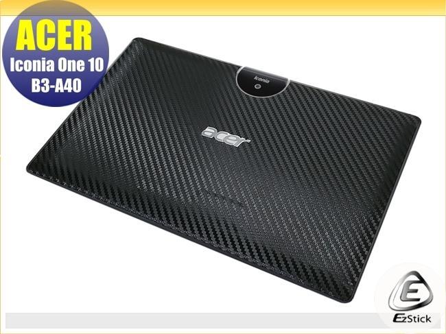 【Ezstick】ACER Iconia One 10 B3-A40 Carbon立體紋機身貼(平板機身背貼)DIY包膜