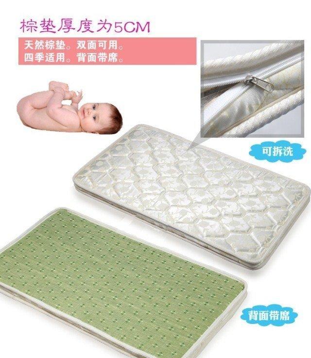 嬰兒床墊棕墊 純天然棕櫚床墊 冬夏兩用 透水透氣 可拆洗