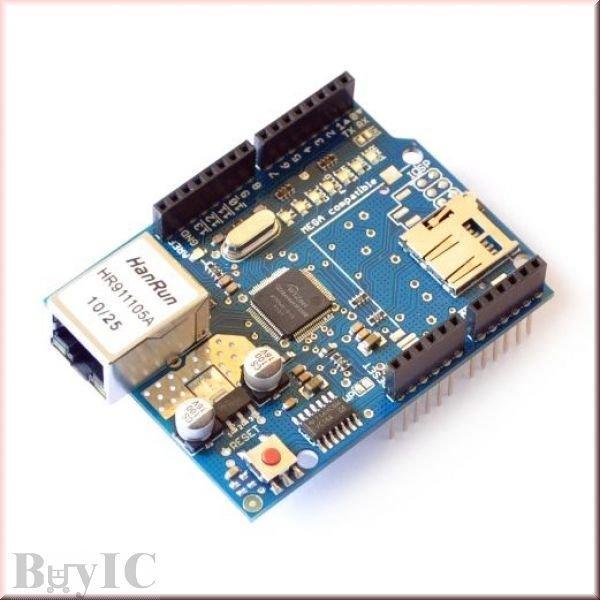 2012最新版 Arduino Ethernet W5100 網路擴展板 SD卡擴展板