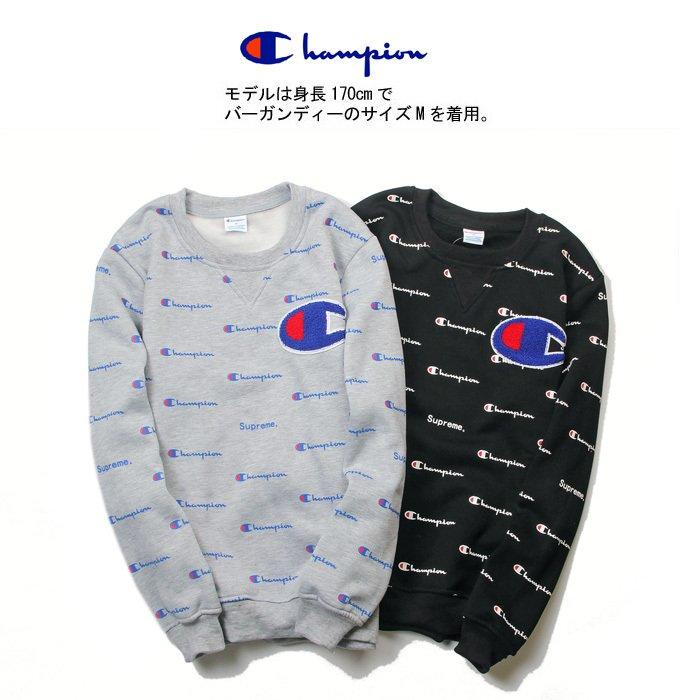 日单champion冠军日系秋冬装英文线条男女情侣加绒卫衣棒球衫外套