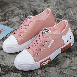現貨 附發票 女款韓版可愛貓咪休閒帆布鞋 編號B-6