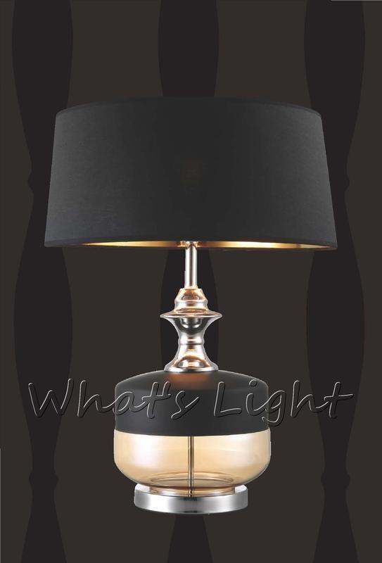 划得來LED燈飾~經典歐風 時尚簡約 E27*1 現代居家 外黑內金燈罩桌燈/檯燈 58公分 52022