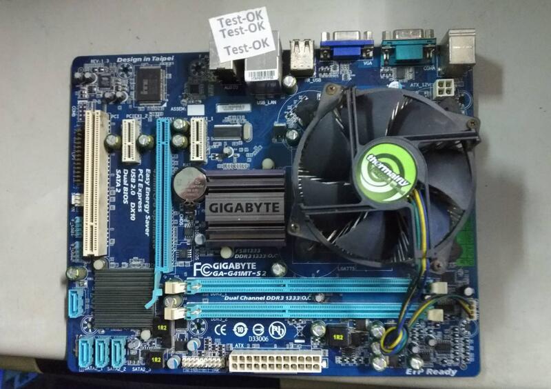 技嘉 GA-G41MT-S2  DDR3/775 主機板+附贈檔板
