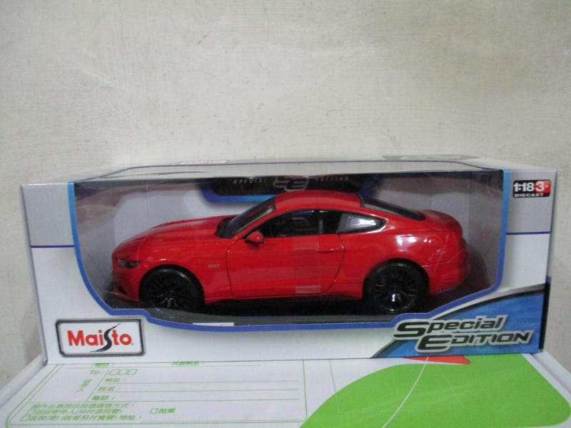 風火輪多美美捷輪Maisto紅1/18合金車福特2015 Ford Mustang GT野馬1:18跑車七佰九十一元起標