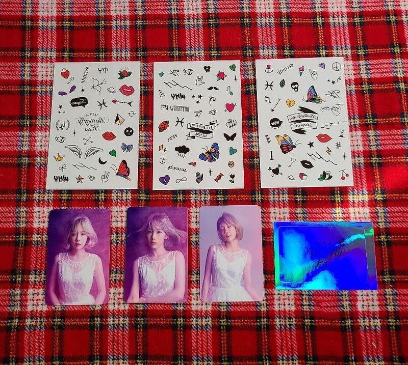 【代購】少女時代 SNSD 太妍 Butterfly Kiss 紋身&照片貼紙組 (7張入) 演唱會 韓國SM 官方周邊