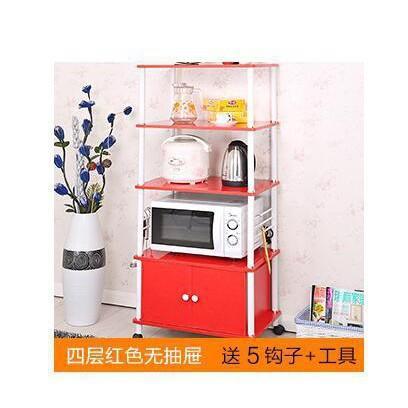 微波爐架 烤箱架 廚房置物架調味品隔板架多功能自由組裝置物架子
