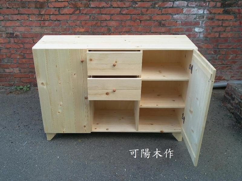 【可陽木作】原木抽屜門開放櫃 / 矮櫃 / 櫥櫃 / 玄關櫃 / 置物櫃 收納櫃 書櫃 / 鞋櫃