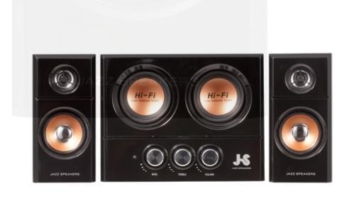 『谷之家』JS 雙重低音全木質多媒體喇叭 JY3250/JY-3250