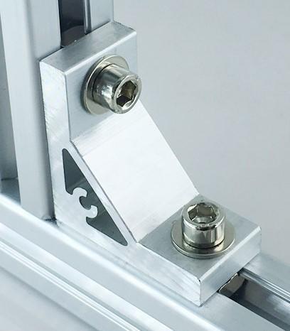 <樂昇 ✕ 鎮安>20系列 支架 連接件 45度 90度 135度 鋁型材 鋁擠型 (含螺栓、螺母)