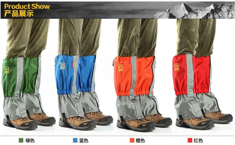 登山綁腿 高品質戶外防水超輕雪套男女通用防護雪套腳套防沙套