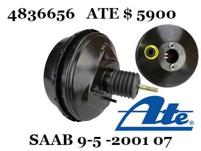 SAAB 紳寶 9-5 98-01 AIR桶 剎車 輔助器 煞車 氣邦 Power Brake Booster 零件圖
