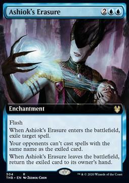 [ALG卡牌專門] THB 塞洛斯-冥途求生 Ashiok's Erasure 安梭苛的抹消 英文 擴圖