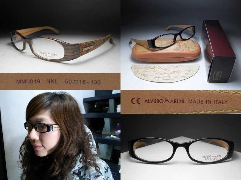 【信義計劃】ALVIERO MARTINI 地圖光學眼鏡 皮革鏡架 可配高度數小框  搭配地圖包皮鞋皮帶皮夾護照夾手錶