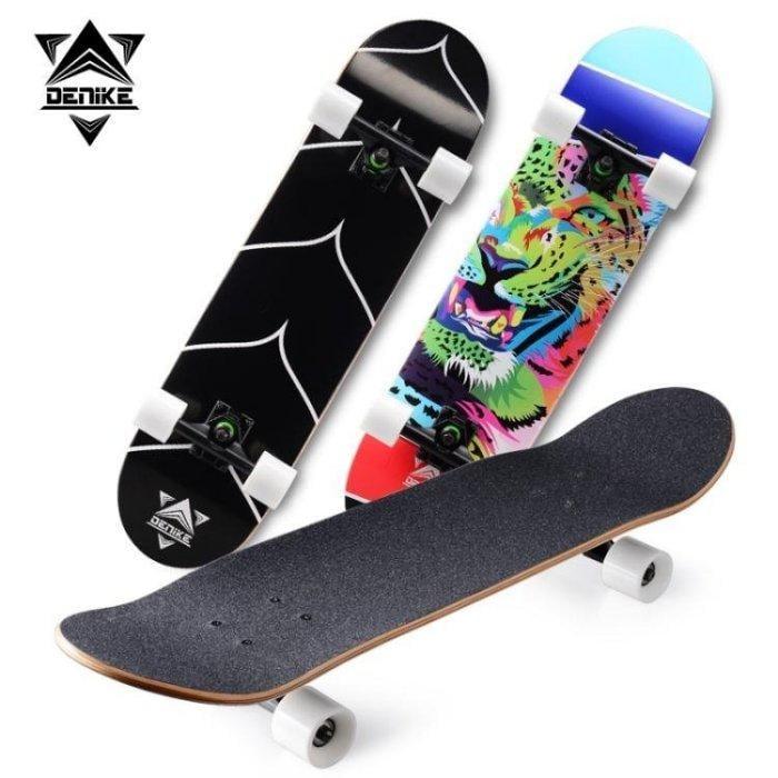 德尼克初學者男女專業滑板刷街代步成人雙翹滑板青少年兒童滑板車igo