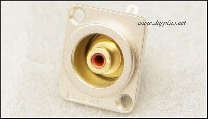 [DIYPlus][音響DIY]高級鍍金RCA端子(紅)單顆