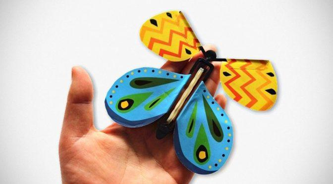會飛的紙蝴蝶 FLYING BUTTERFLY 魔術惡作劇 仿真飛舞