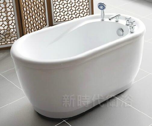 [新時代衛浴] 臺灣製,120cm獨立浴缸,小空間別錯過 RF120