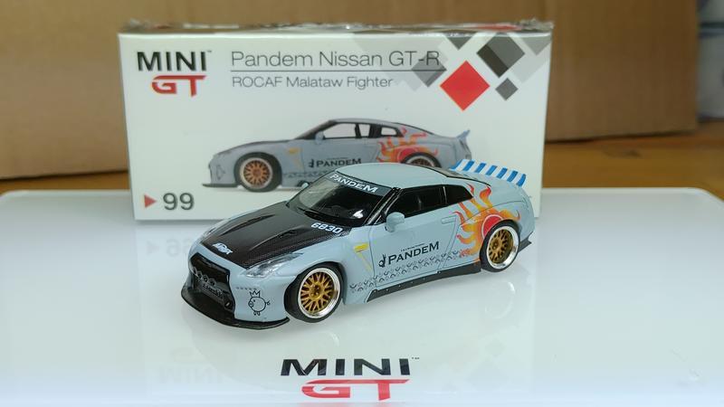 《總代理》MINI GT 1/64 模型車 臺灣限定 #99 Pandem GT-R 空軍F16塗裝 馬拉道太陽神 鴨尾