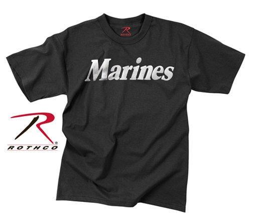 【傲骨工坊】ROTHCO短袖T恤_Marines字體【黑色】素面T圓領T恤軍事風個性T街頭  RT7136