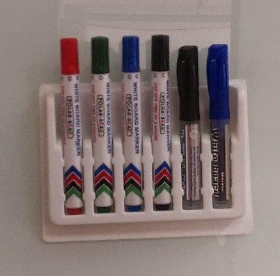 【元平黑板】PH-N06 玻璃白板專用磁性筆座 能放6支筆