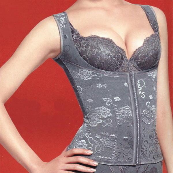 華歌爾 摩奇X曲線 時尚性感強力重機能產後調整型內衣防駝馬甲塑身衣塑衣束身衣束衣 灰色 70號 黛安芬曼黛瑪璉奧黛莉參考