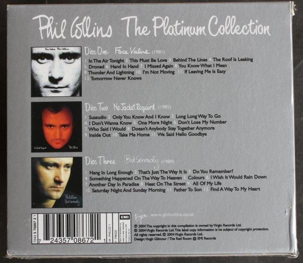 《菲爾柯林斯》經典專輯3CD收藏盒Phil Collins / No Jacket Required/ Face全新歐版